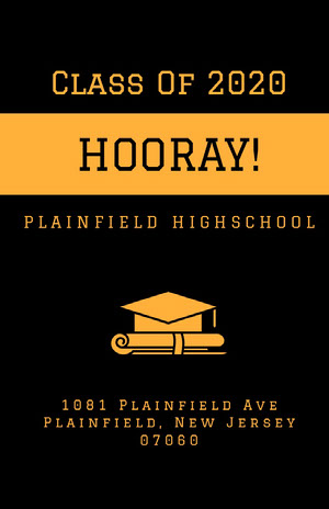 Orange and Black Graduation Poster Graduation Poster