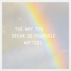 Light Toned, Rainbow Sky Inspiration Quote, Instagram Square Health Posters