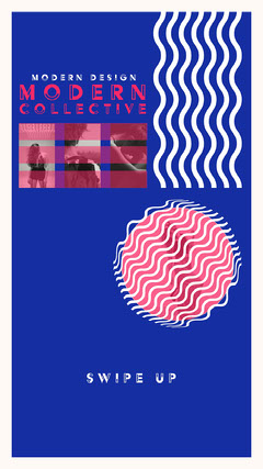 Blue & Pink Modern Collective Instagram Story New Collection