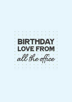 Blue & Black Simple Dots Birthday Card  Birthday