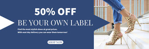 Blue and White Shoes Sale Banner Ads Banner