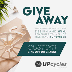 White and Green Design Contest with Bicycle Giveaway Instagram Square Giveaway