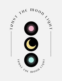 Light Toned, Sun and Moon Light T-Shirt, Poster Moon