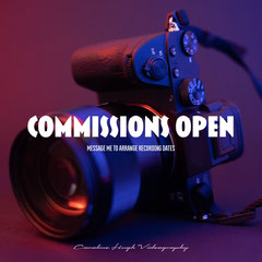 Dark Purple Videography Commissions Instagram Square Service