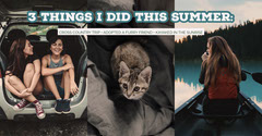 Summer Activities Facebook Post Graphic with Collage Hike