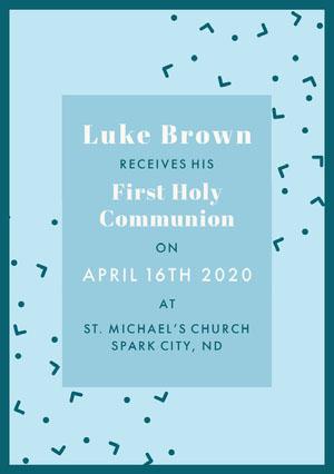 Blue and White Communion Announcement Communion Annoucements