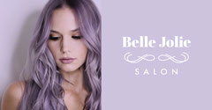 Violet With Portrait Of Woman Salon Advertisement Beauty Salon