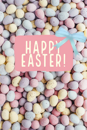Pastel Colored Happy Easter Pinterest Graphic Creatore di biglietit pasquali