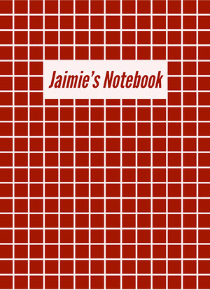Red Grid Notebook Cover Notebook Cover