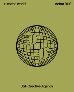 Green Creative Agency Instagram Portrait Graphic with Globe Earth