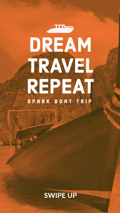 DREAM<BR>TRAVEL<BR>REPEAT Boats