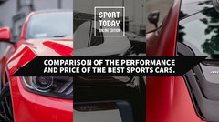 Red and Black Sports Car Review Twitter Post Graphic Car