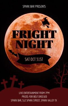 Halloween Poster Moon