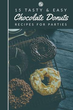 Chocolate Donuts Recipe Pinterest Graphic Donut