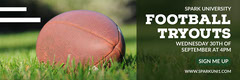 Light Toned Football Tryout Event Ad Facebook Banner Event Banner