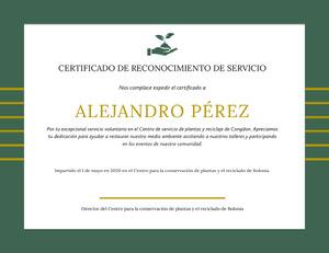 ALEJANDRO PÉREZ  Certificado