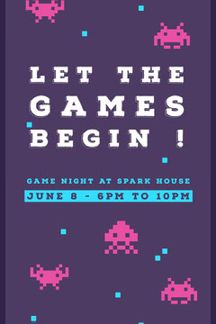 LET THE GAMES BEGIN ! Game Night Flyer