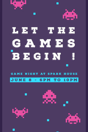 LET THE GAMES BEGIN ! Cartazes de jogos