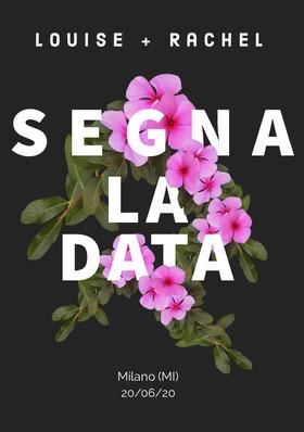 floral save the date card  Partecipazione