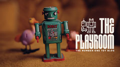 Robot Figurine Photo Toy Blog Banner Blogger