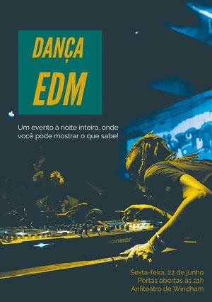 Dança<BR>EDM Convite para festa