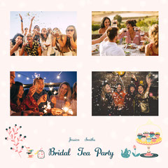 pink bridal weekend party collage instagram square  Drink