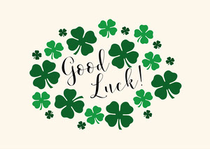 Green Clover Good Luck Card Good Luck Card