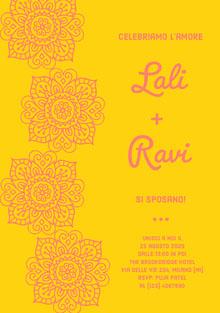 henna inspired wedding cards Biglietti di ringraziamento per il matrimonio
