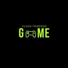 Green and Black Gamer Logo with Controller Logo