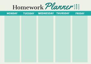 Green Simple Weekly Homework Planner A4 Planificateur