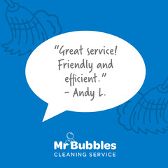 Mr Bubbles testimonial - IG Square Cleaning Service