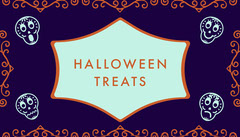 Purple Sugar Skulls Halloween Party Gift Tag Halloween Gift Tag