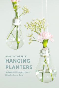 hanging planter pinterest  Water