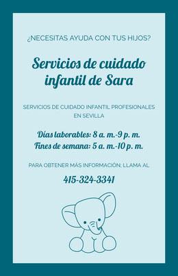 Servicios de cuidado infantil de Sara Octavilla