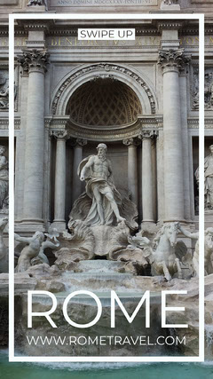 Rome Travel Ad Instagram Story with Fountain Italy