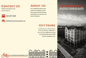 Black and White Adventure in Amsterdam Brochure  Travel Brochure