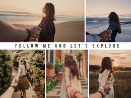 Follow me and let's explore Colagem de fotos