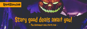 Halloween Scary Pumpkin Sale Ad Banner Banneri