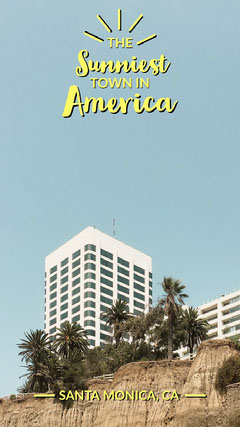 Light Toned Santa Monica Travel Ad Instagram Story California