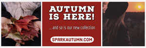 Red New Autumn Fashion Collection Ad Banner Banner