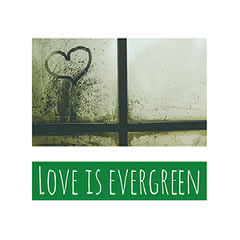 Green and White Love Catchphrase Instagram Graphic Love