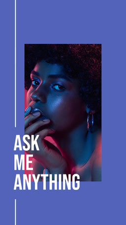 Purple White Ask Me Anything Profile Instagram Story