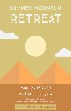 Mountain Retreat Poster Mountains