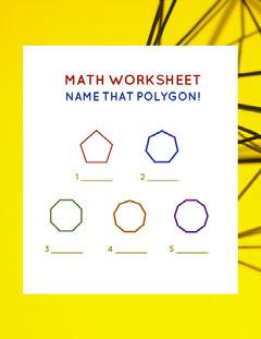 White and Yellow Math Worksheet Math