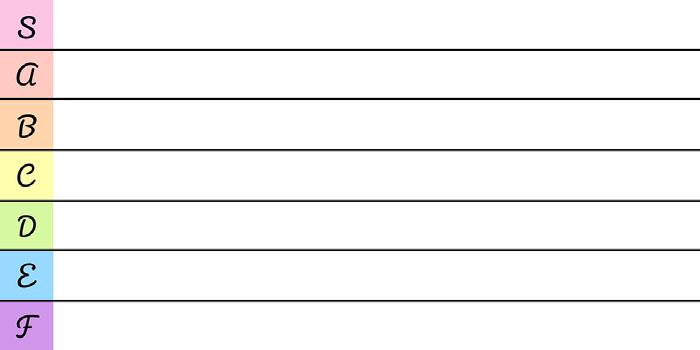 Pastel Simple Tier List Tier List