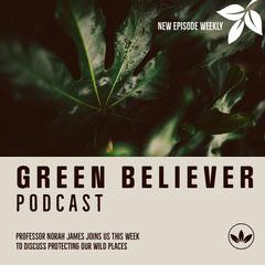 Green Leaves & Cream Border Podcast Instagram Square Border