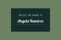 green name tag Green