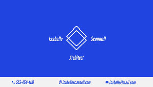 Blue Minimal Architect Business Card Tarjeta de visita