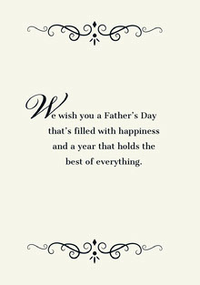 W Father's Day Card