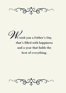 W Tarjetas para el Día del Padre